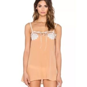 NWT XS For Love and Lemons Ellie Silk Nighty